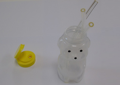 Mr Joice Bear Drinking Teaching Cup with Straws OMS17